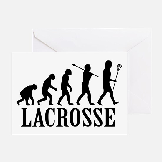 Lacrosse Evolution Greeting Card