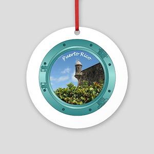 Puerto Rico Porthole Ornament (Round)