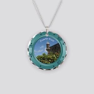 Puerto Rico Porthole Necklace Circle Charm
