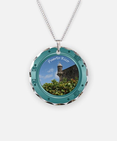 Puerto Rico Porthole Necklace
