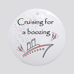 Cruising for a Boozing Ornament (Round)