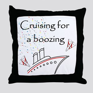 Cruising for a Boozing Throw Pillow