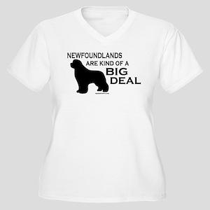 Big Deal Women's Plus Size V-Neck T-Shirt