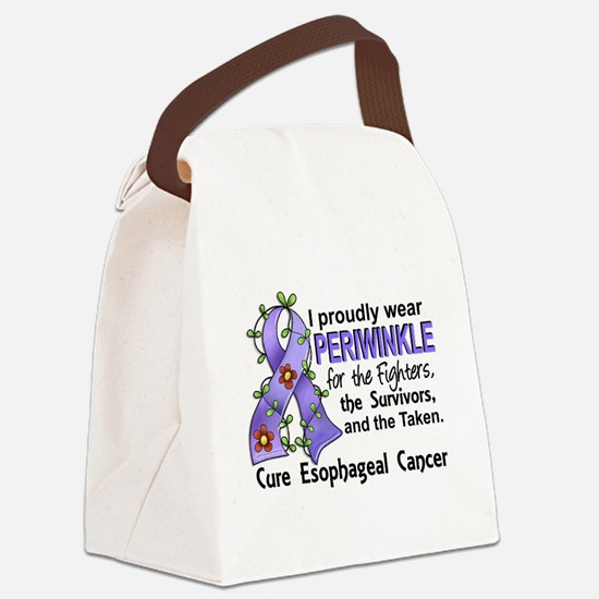 Cute Support cervical cancer awareness teal ribbon Canvas Lunch Bag