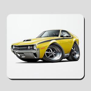 1970 AMX Yellow-Black Car Mousepad