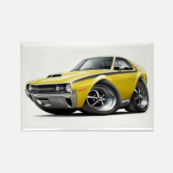 1970 AMX Yellow-Black Car Rectangle Magnet