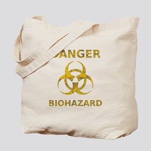 Distressed Biohazard Symbol Tote Bag
