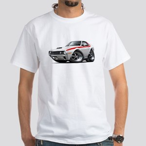 1970 AMX White-Red Car White T-Shirt
