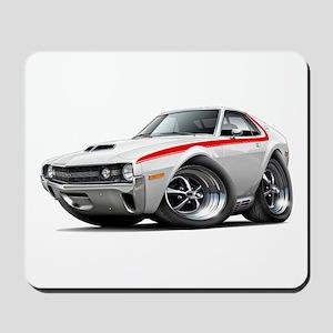 1970 AMX White-Red Car Mousepad