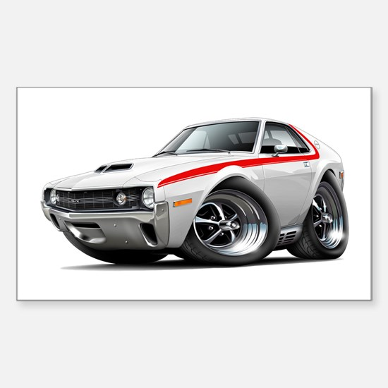 1970 AMX White-Red Car Sticker (Rectangle)