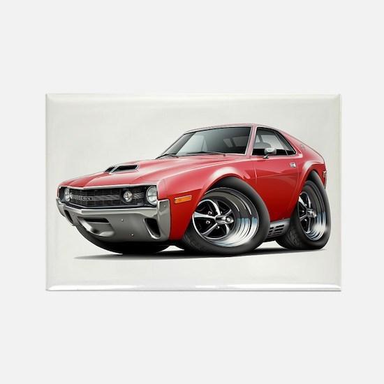 1970 AMX Red Car Rectangle Magnet