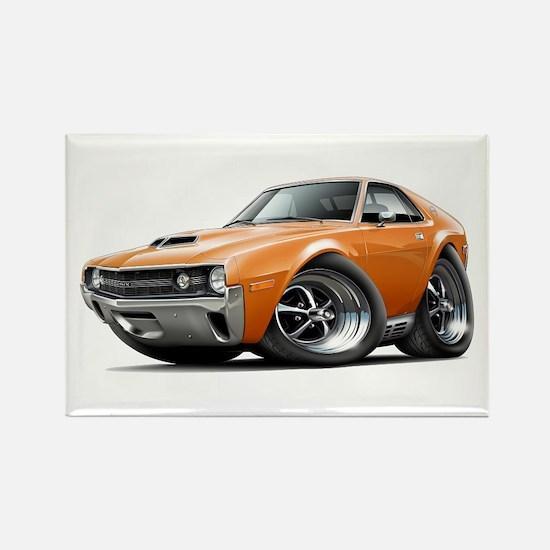 1970 AMX Orange Car Rectangle Magnet
