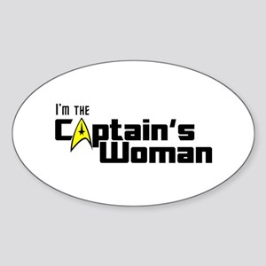 The Captain's Woman Sticker (Oval 10 pk)