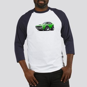 1970 AMX Lime-Black Car Baseball Jersey