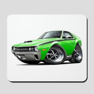 1970 AMX Lime-Black Car Mousepad