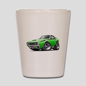 1970 AMX Lime-Black Car Shot Glass