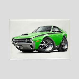 1970 AMX Lime-Black Car Rectangle Magnet