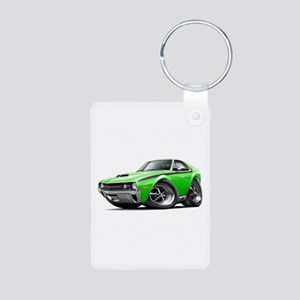 1970 AMX Lime-Black Car Aluminum Photo Keychain