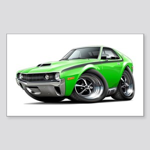 1970 AMX Lime-Black Car Sticker (Rectangle)