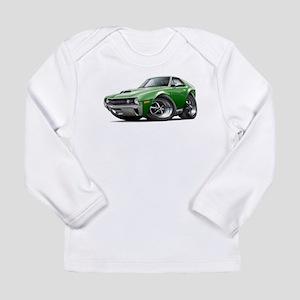 1970 AMX Green Car Long Sleeve Infant T-Shirt