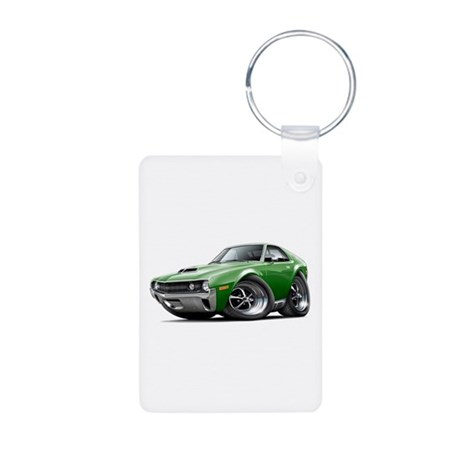 1970 AMX Green Car Aluminum Photo Keychain