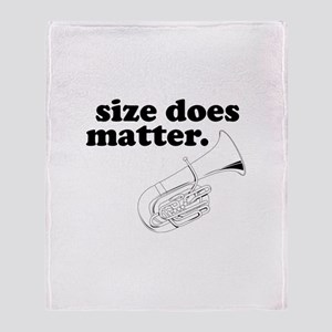 Size Does Matter Throw Blanket