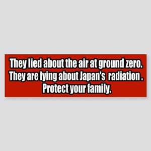 Nuclear Japan Fukusima Radiation Bumper Sticker