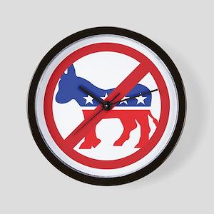 Anti-Democrat Wall Clock