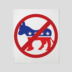 Anti-Democrat Throw Blanket