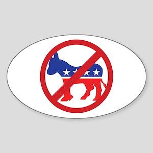 Anti-Democrat Sticker (Oval)