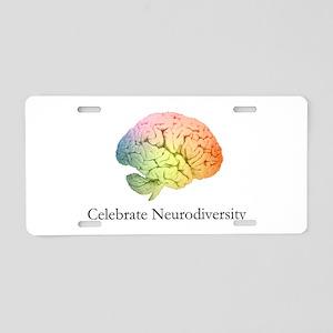 Celebrate Neurodiversity Aluminum License Plate