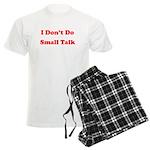 I Don't Do Small Talk Men's Light Pajamas