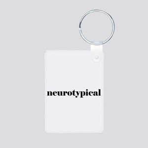 I'm With Neurotypical Aluminum Photo Keychain