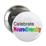"Celebrate Neurodiversity 2 2.25"" Button"