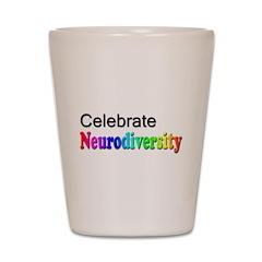 Celebrate Neurodiversity 2 Shot Glass
