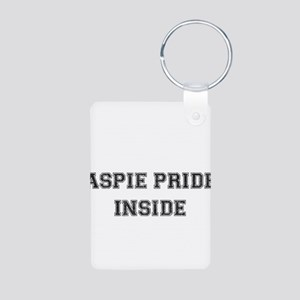 Vintage Aspie Pride Inside Aluminum Photo Keychain