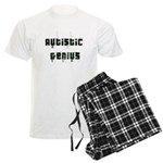 Autistic Genius Grunge Men's Light Pajamas