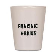 Autistic Genius Grunge Shot Glass