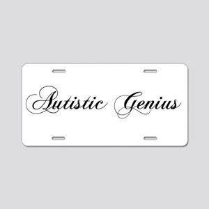 Autistic Genius Aluminum License Plate