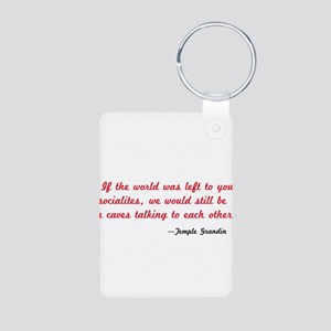 Temple Grandin Quote Aluminum Photo Keychain