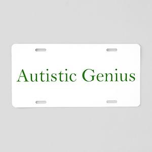 Autistic Genius 2 Aluminum License Plate