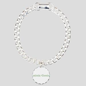 Autistic Genius 2 Charm Bracelet, One Charm