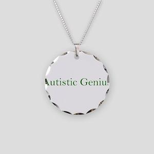 Autistic Genius 2 Necklace Circle Charm