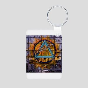 AA Graffiti Aluminum Photo Keychain