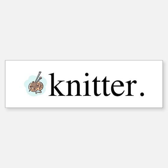 Knitter Sticker (Bumper)