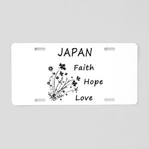 Japan Faith and Hope Aluminum License Plate
