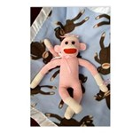 Pink Sock Monkey Postcards (Package of 8)