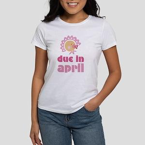 April Baby in Bonnet Due Date Women's T-Shirt