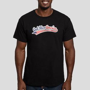 God Bless Men's Fitted T-Shirt (dark)