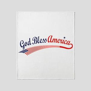 God Bless Throw Blanket